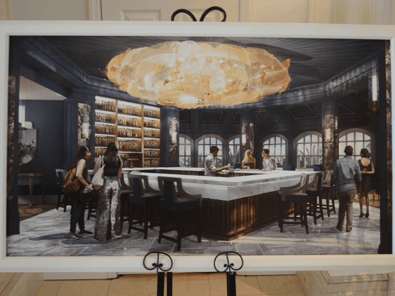 Concept Art for the new Beauty & The Beast themed lounge.
