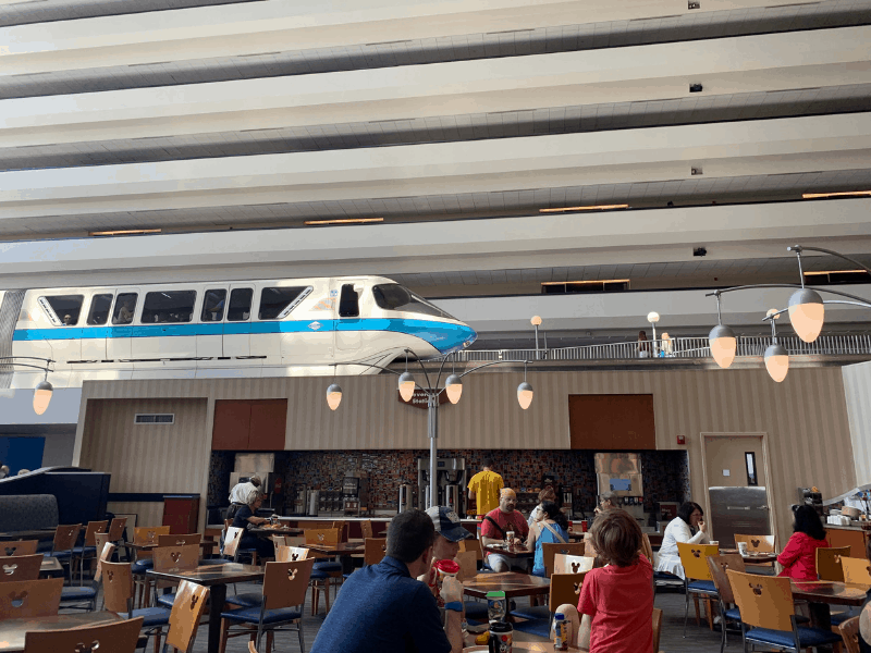 contempo cafe view of monorail