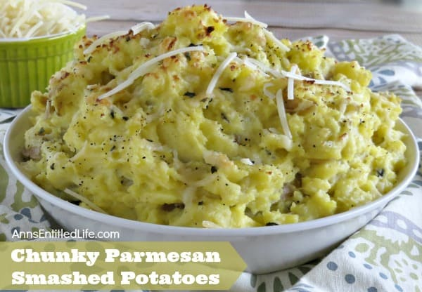 Chunky Parmesan Smashed Potatoes Recipe