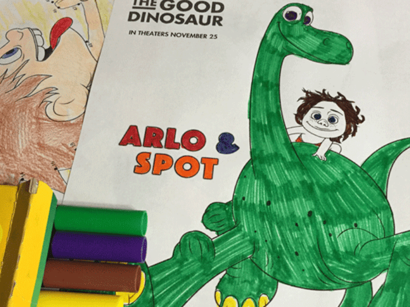 The Good Dinosaur Printable Coloring and Activity Pages