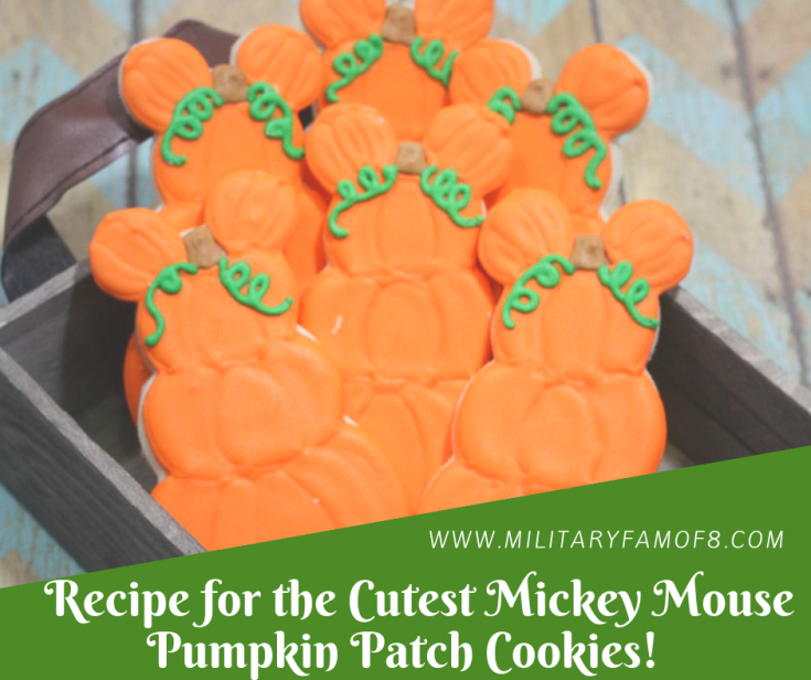 Recipe for the Cutest Mickey Mouse Pumpkin Patch Cookies!