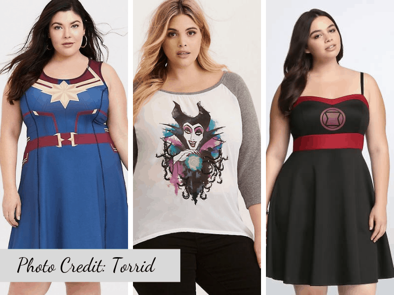 Plus Size Disney Fashions from Torrid