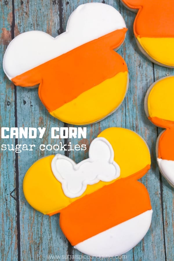 Mickey Mouse Candy Corn Cookies ⋆ Sugar, Spice and Glitter
