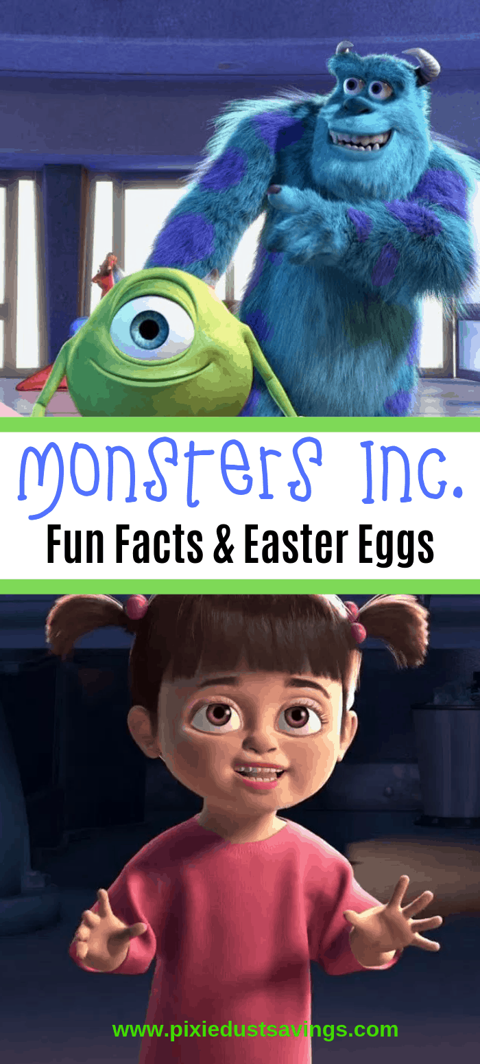 Monsters Inc Fun Facts and Easter Eggs