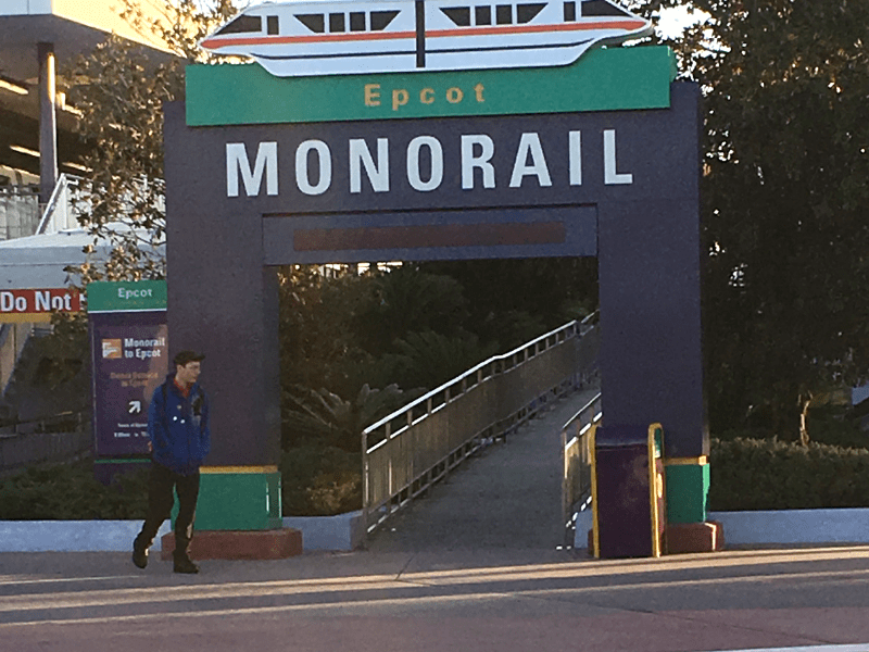 Ramp to the Epcot Monorail
