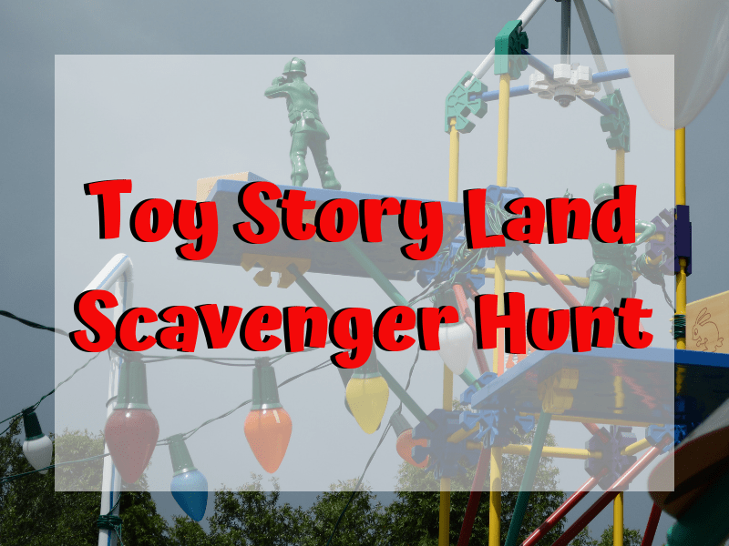 Toy Story Land Scavenger Hunt