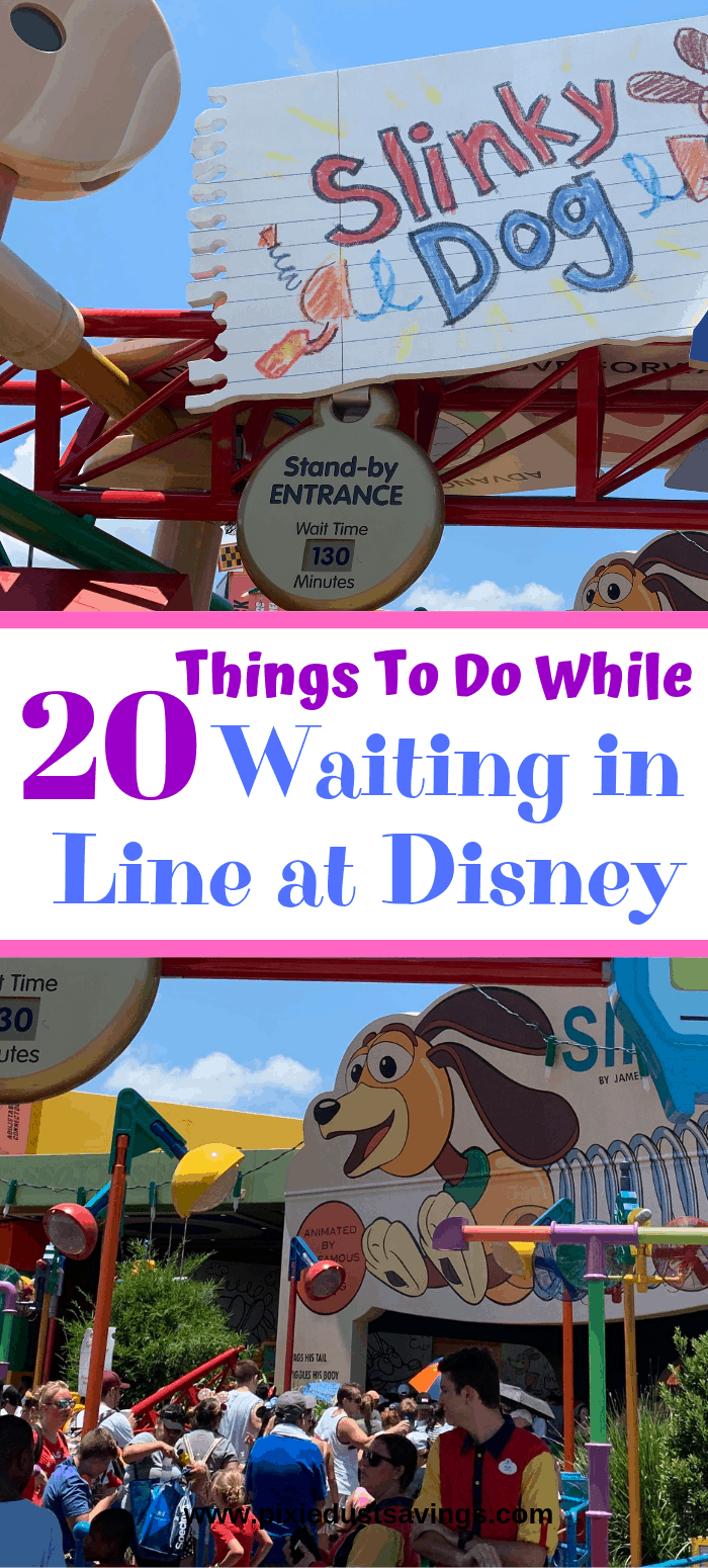 20+ Things To Do While Waiting in Line at Disney