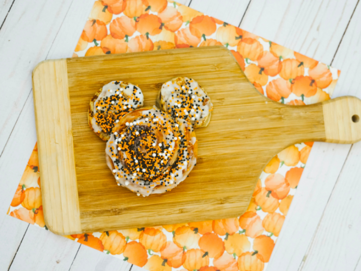 Halloween Mickey Mouse Cinnamon Rolls