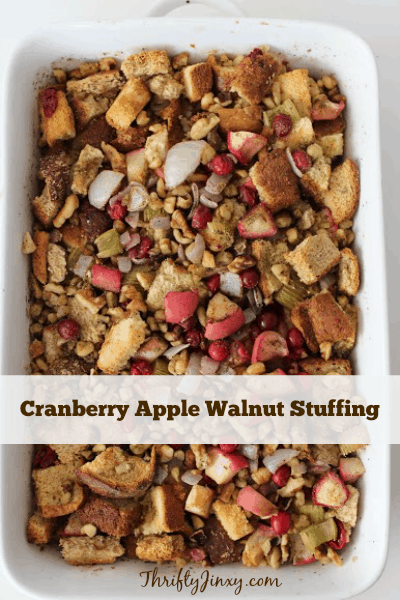 Cranberry Apple Walnut Stuffing Recipe