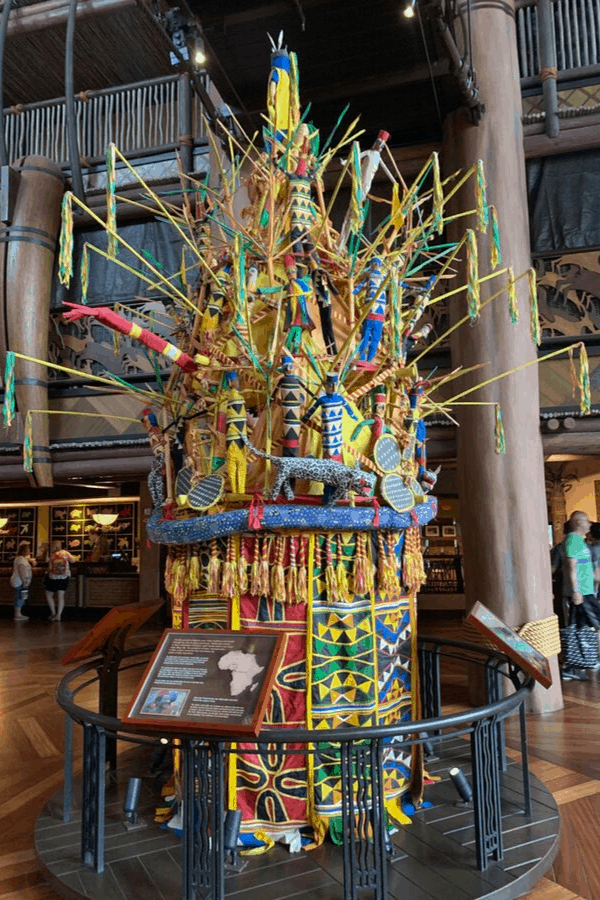 Art Piece in the Animal Kingdom Lodge Lobby