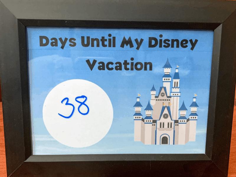 Disney Vacation Countdown Activities