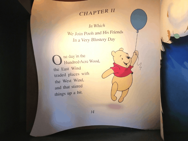 Many Adventures of Winnie the Pooh Book Page