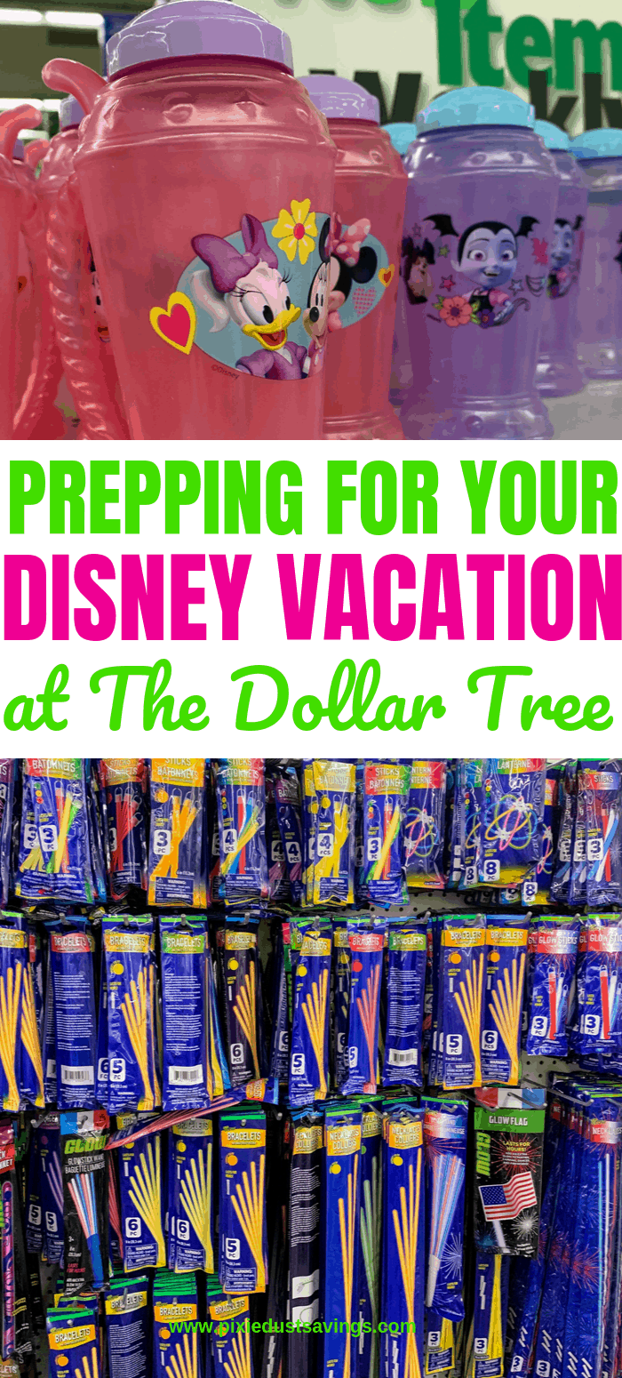 Prepping for your Disney Vacation at the Dollar Tree