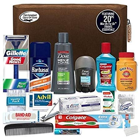 Convenience Kits Men 20 Count Necessities Travel Kit