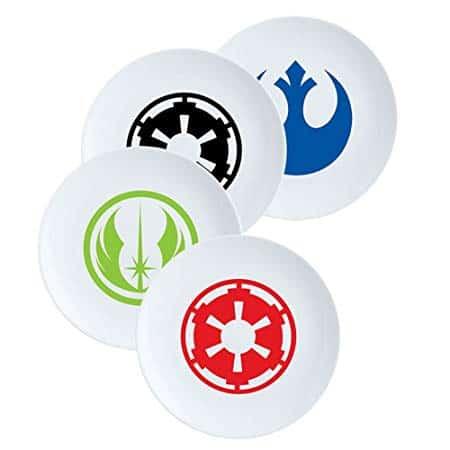 Star Wars 4 Piece 8 Inch Ceramic Salad Plate Set