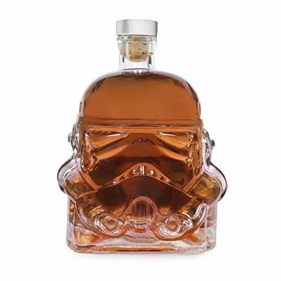 Transparent Creative 700ml Whiskey Flask Carafe Decanter,Stormtrooper Bottle ,Whiskey Carafe,Helmet Glass Cup Heat-Resistance Cup Suitable for Whiskey, Vodka and Wine decanter