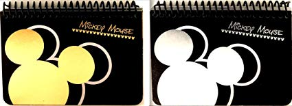 MICKEY MOUSE BLACK SPIRAL AUTOGRAPH BOOKS