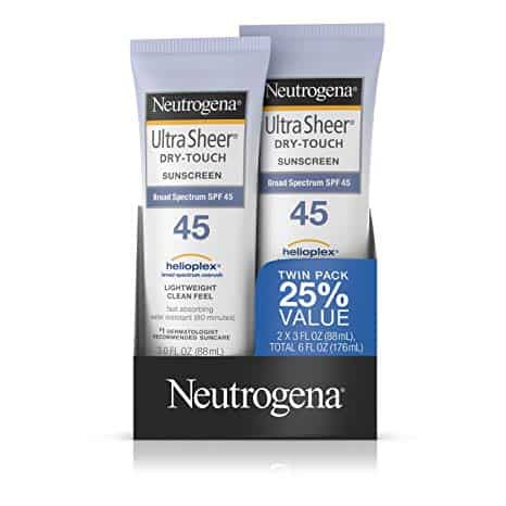 Neutrogena Ultra Sheer Dry-Touch Water Resistant and Non-Greasy Sunscreen Lotion
