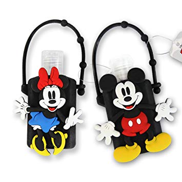 DISNEY Portable Hand Sanitizer with Holder (Mickey & Minnie, 2)