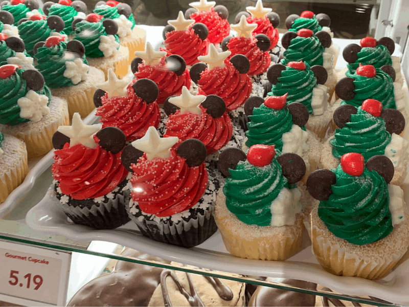 Holiday Cupcakes from Magic Kingdom