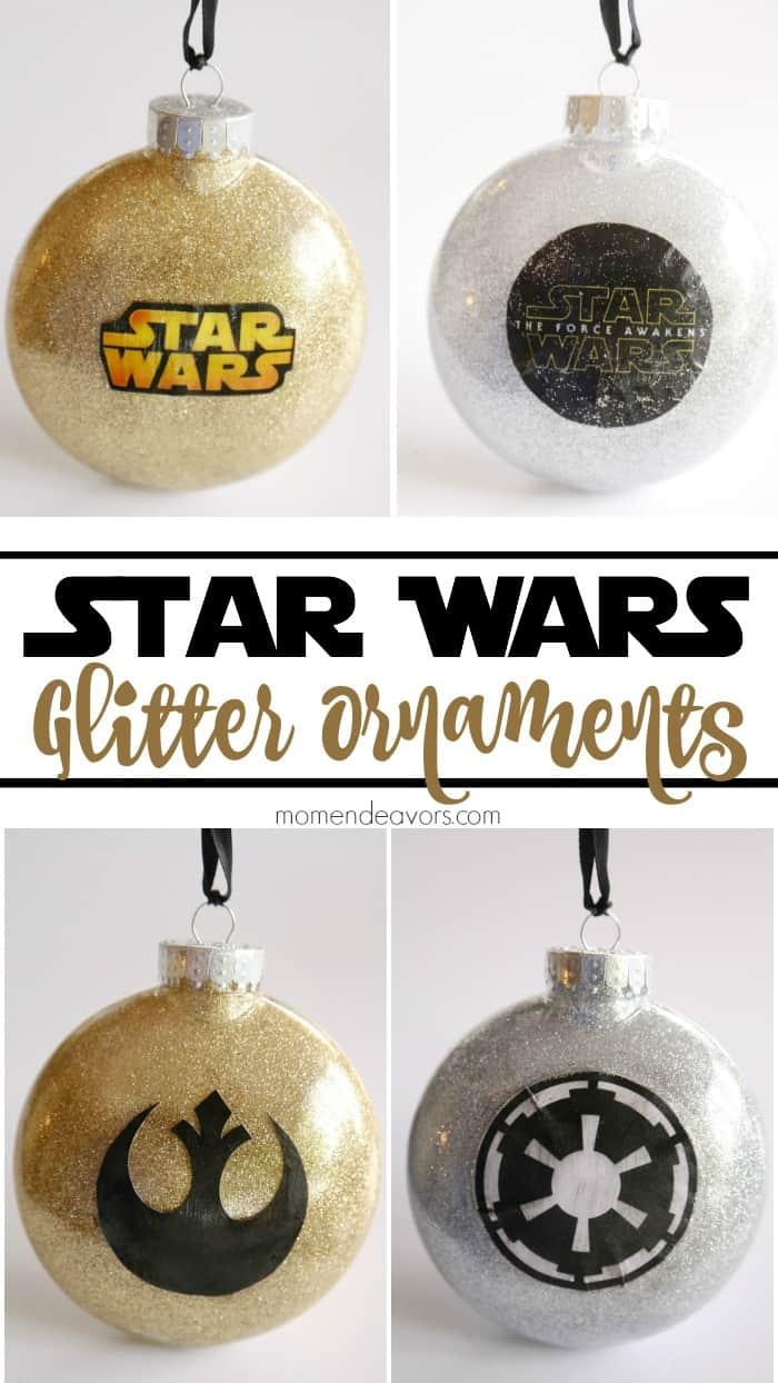 DIY Glitter Star Wars Ornaments