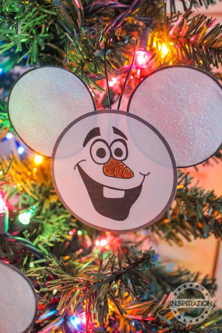 Olaf Christmas Ornament Craft