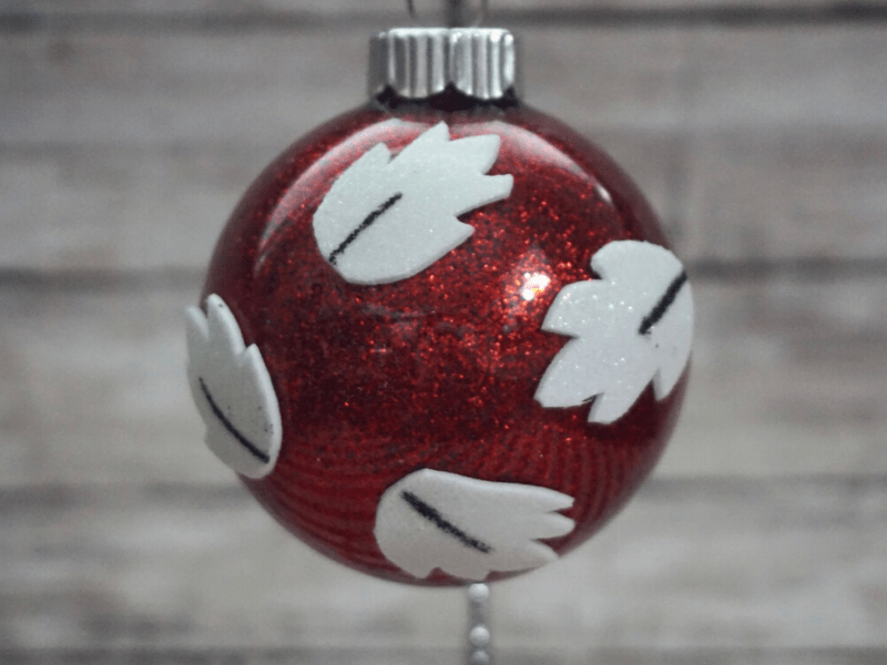 DIY Lilo Ornament on ornament hanger
