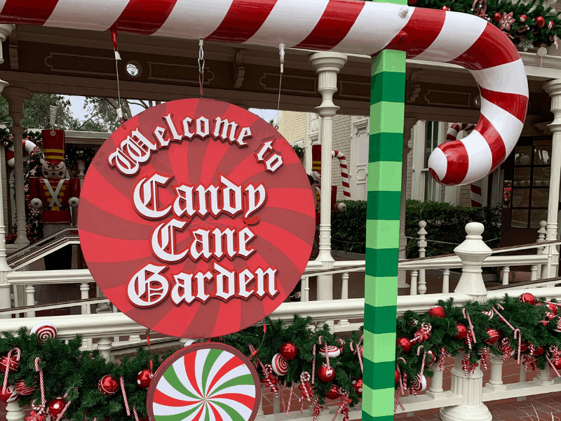 Candy Cane garden Sign