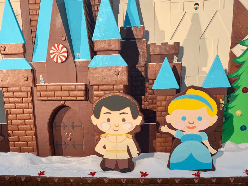 Cinderella and Prince Charming Gingerbread Display