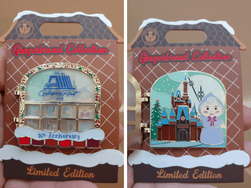 Contemporary Resort Collectible Disney Pin for 2019 featuring the Fairy Godmother