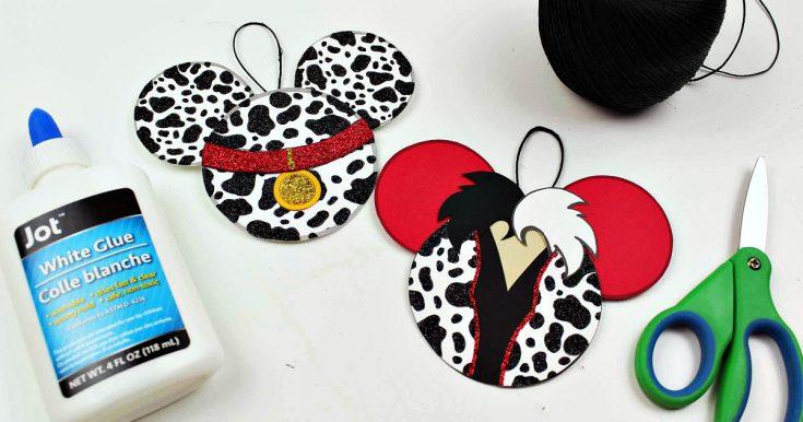 101 Dalmatians and Cruella Ornament Craft