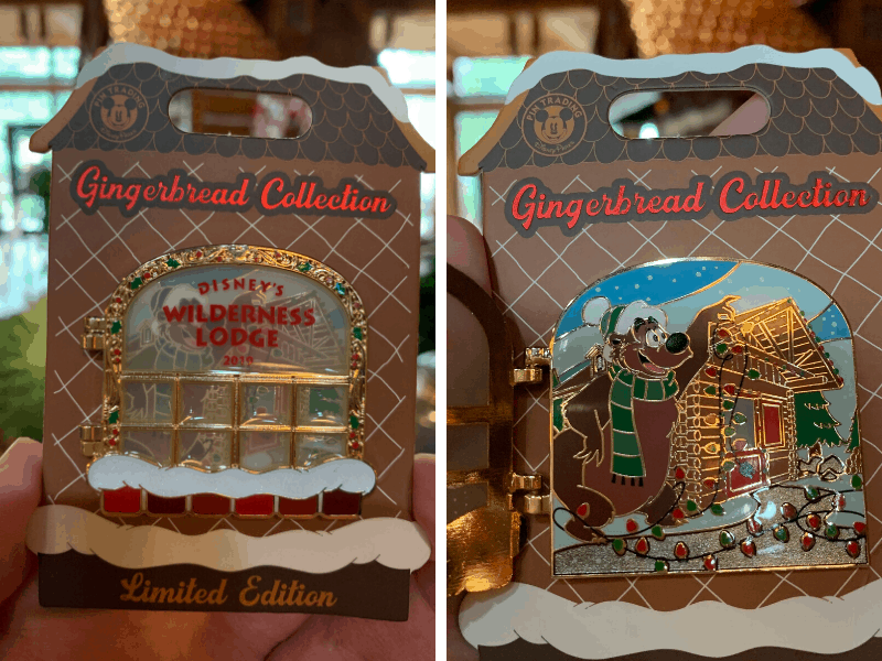 Wilderness Lodge Gingerbread House Limited Edition Pin