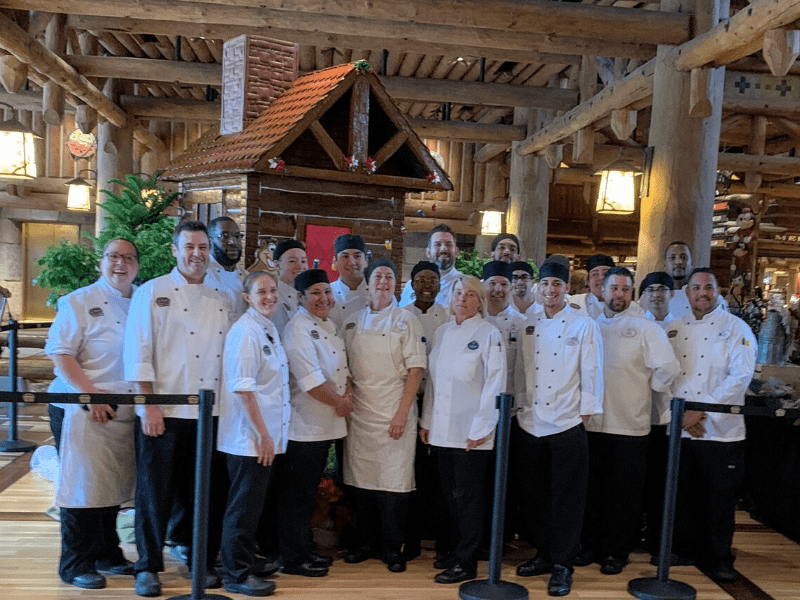 Wilderness Lodge Gingerbread House Pastry Chefs