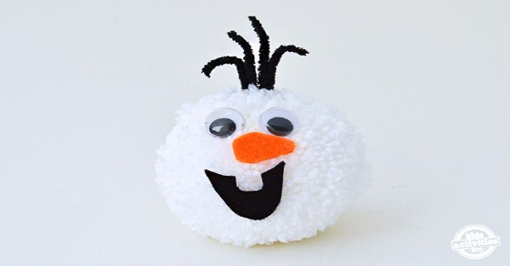Olaf Frozen Pom Poms