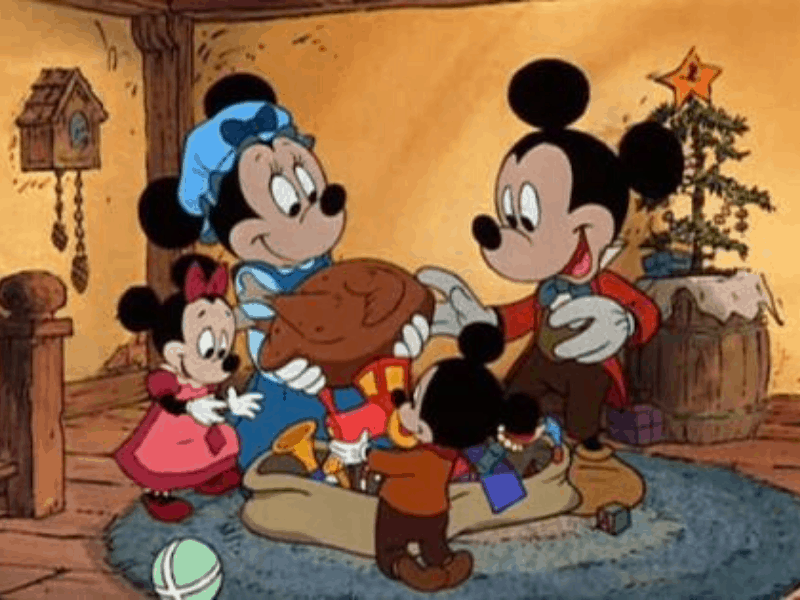 a scene from Mickey's Christmas Carol