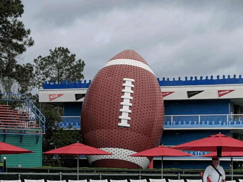 Bigger than life football at Disney's All Star Sports resort