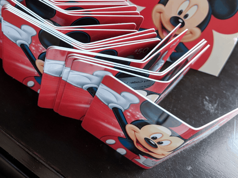 disney gift cards used