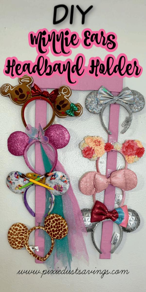 DIY Minnie Ears Headband Holder