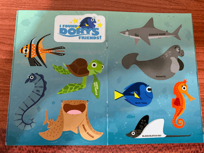 Finding Dory Scavenger Hunt Booklet Stickers
