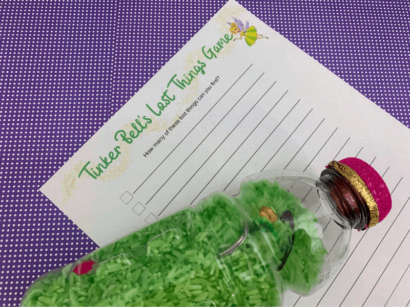 DIY Tinker Bell's Lost Things Game with printable