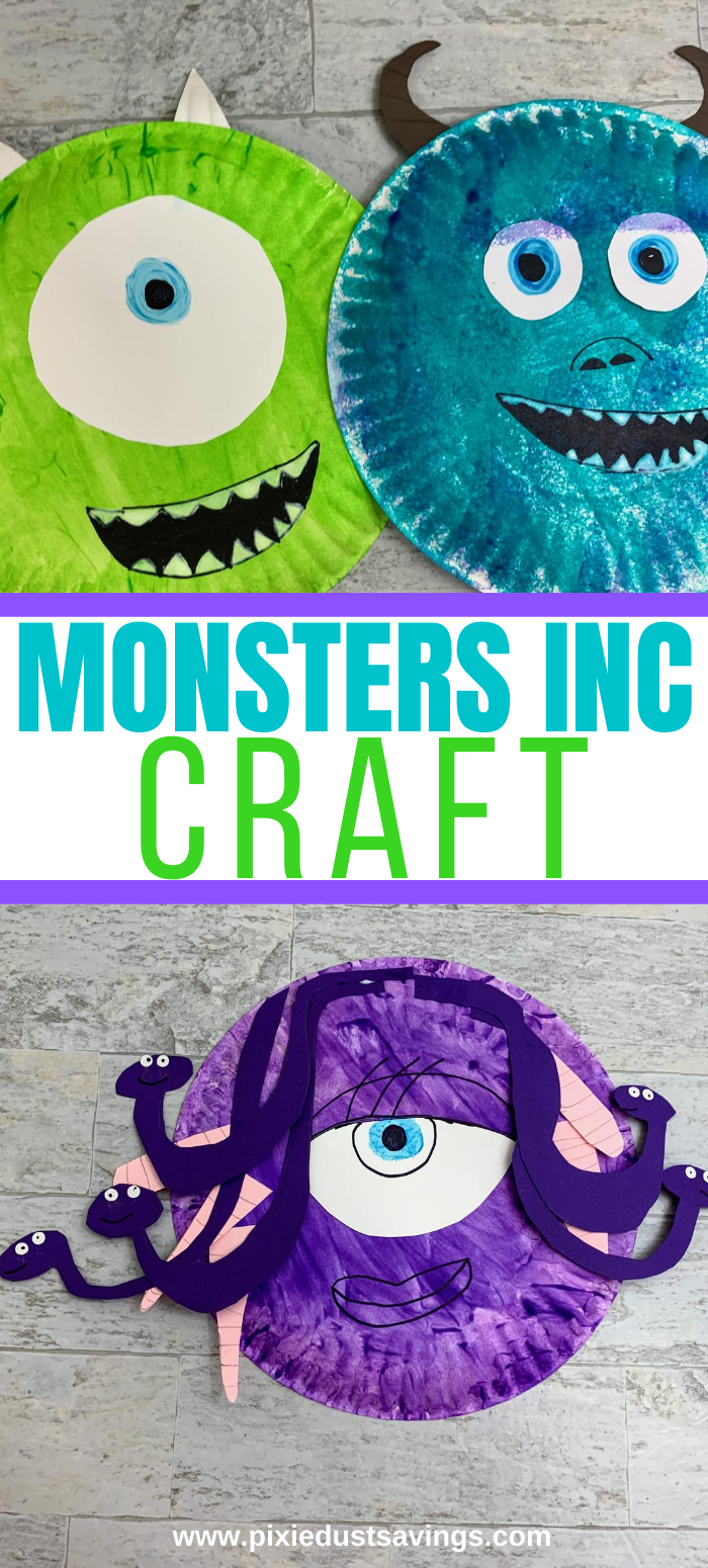 Monsters Inc Paper Plate monsters