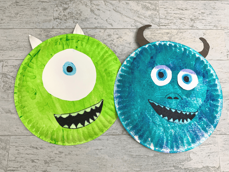 Paper Plate Mike and Sulley