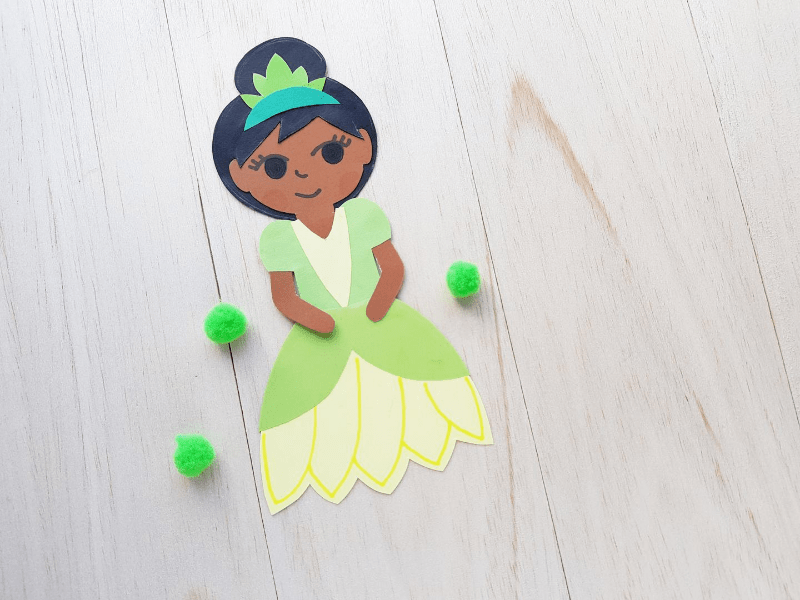 Princess Tiana Paper Doll Craft