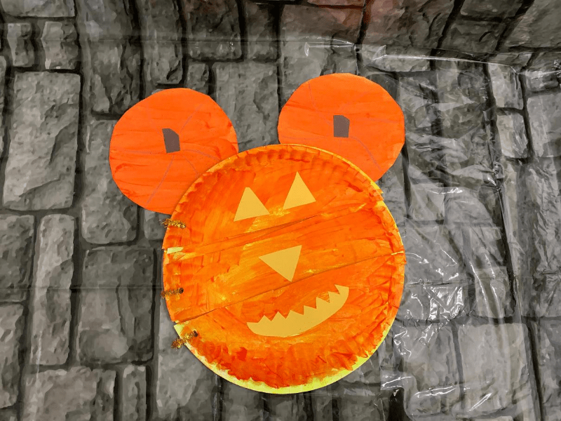 Mickey Mouse Pumpkin Faces Craft