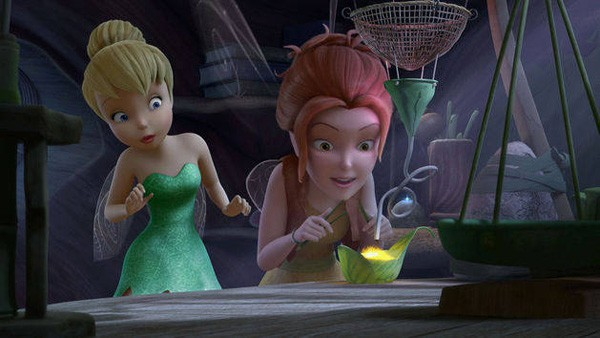 Tinker Bell and Zarina mixing pixie dust