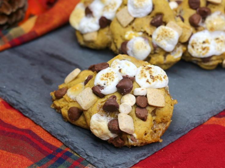 Pumpkin S'more Cookies