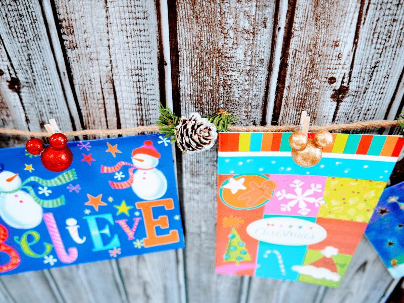 Mickey Mouse Christmas Card Garland