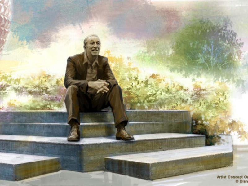 Art concept for Walt Statue in Epcot